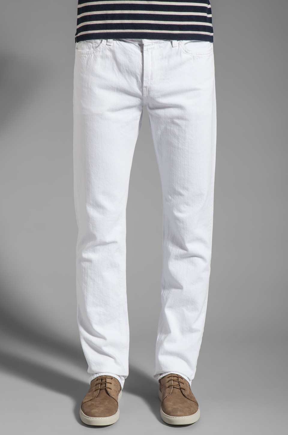 7 For All Mankind Slimmy in Clean White