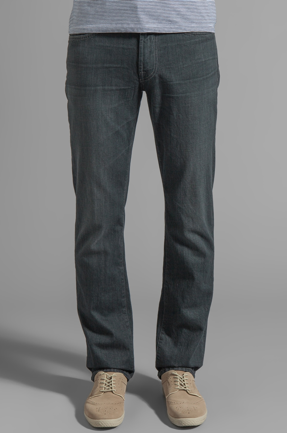 7 For All Mankind Slimmy in Glenview Grey