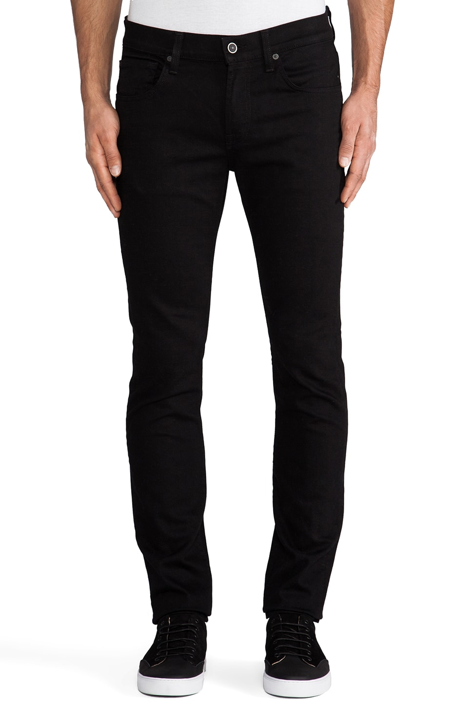 7 For All Mankind Paxtyn in Triple Black
