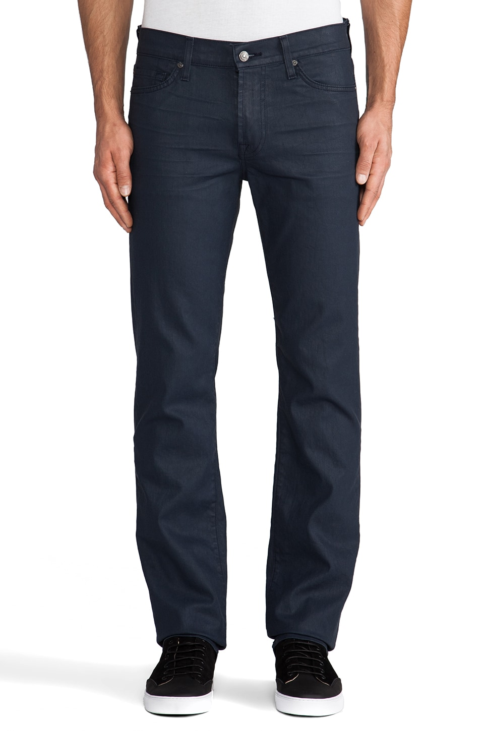 7 For All Mankind Slimmy in Petrol Blue