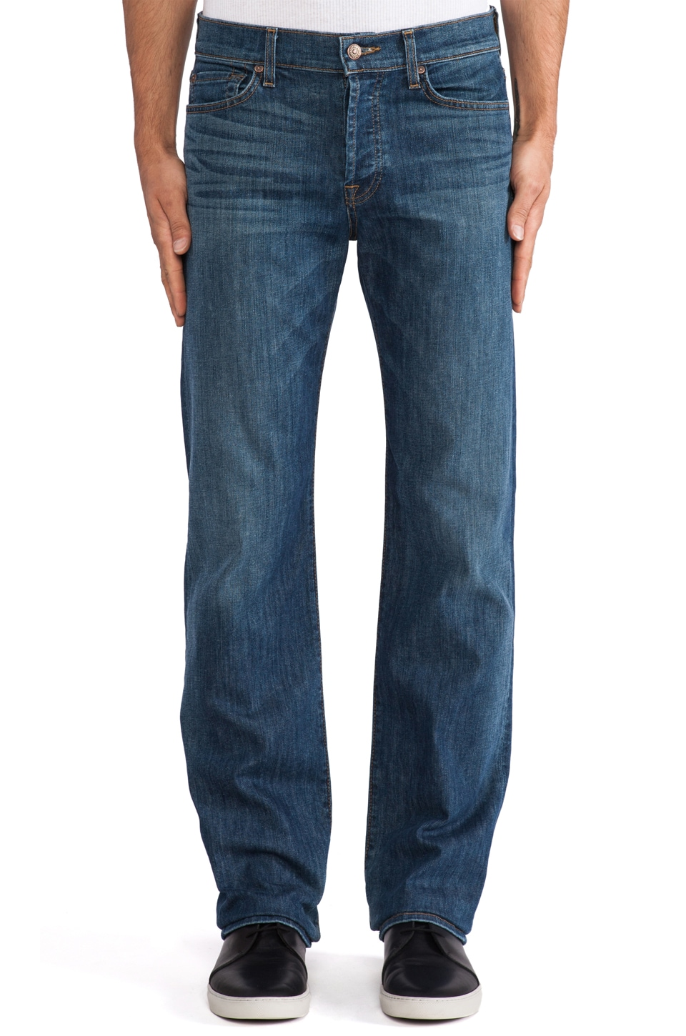 7 For All Mankind Standard in Barbados Blue