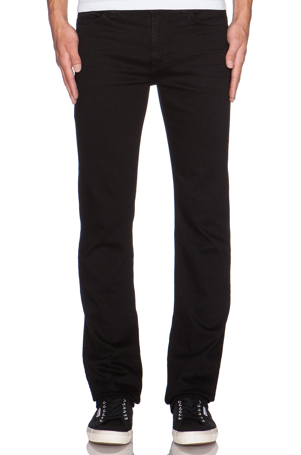 7 For All Mankind Luxe Performance Slimmy in Nightshade Black