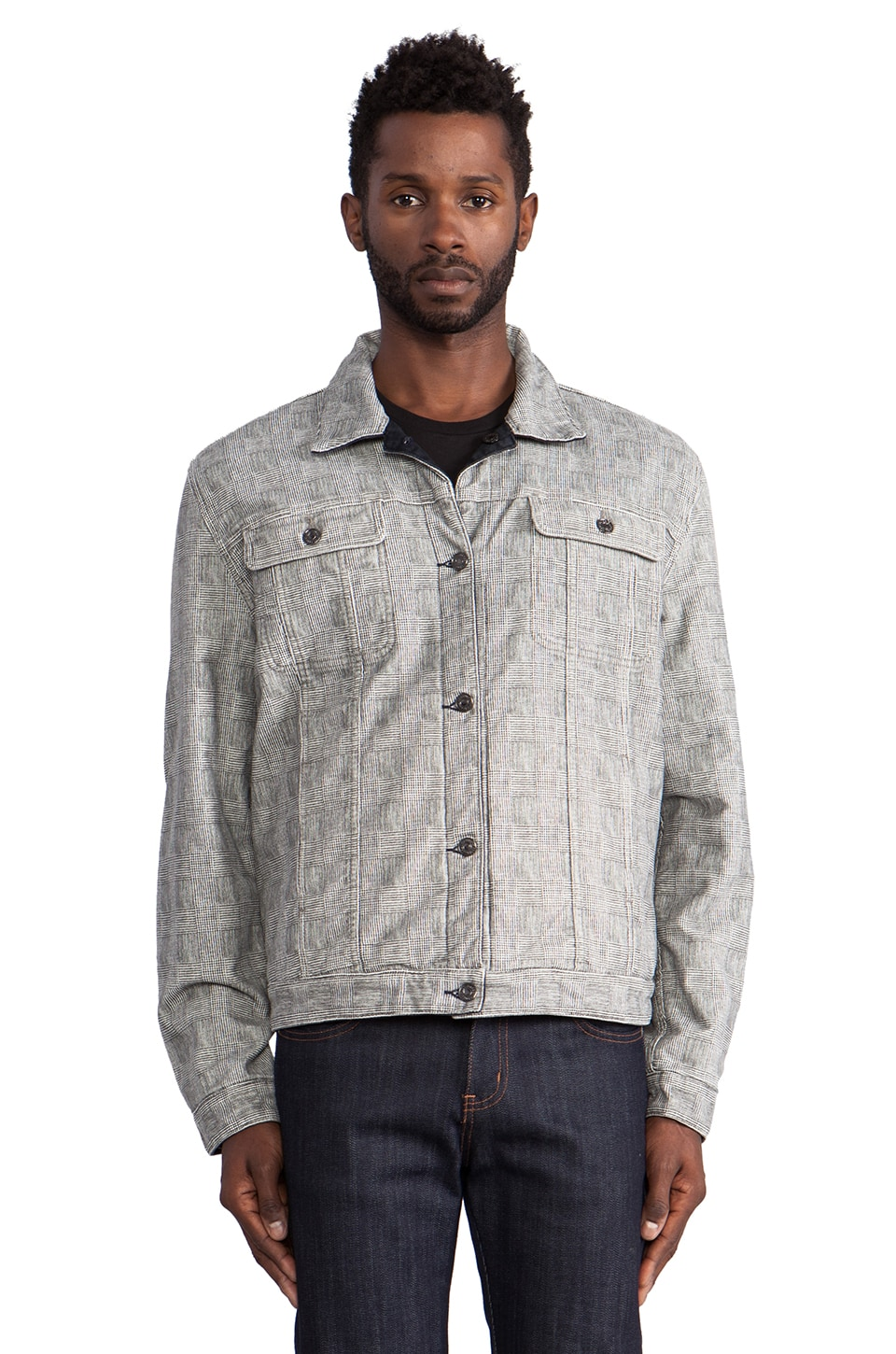 7 For All Mankind Reversible Jean Jacket in Grey