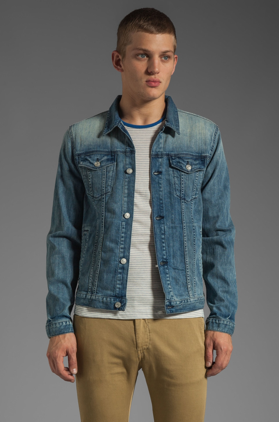 7 For All Mankind Jean Jacket in Washed Out