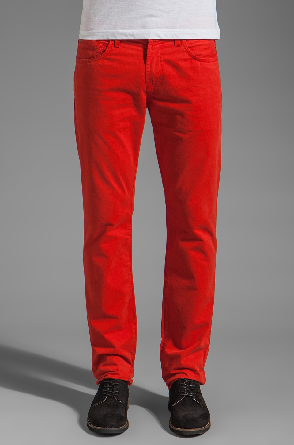 7 For All Mankind The Straight Leg in Passion Red