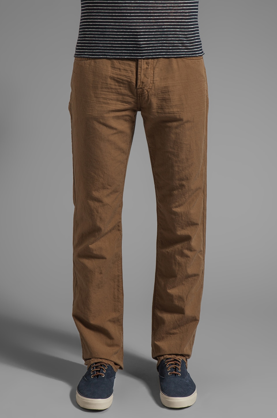 7 For All Mankind Summer Linen Pant in Tobacco