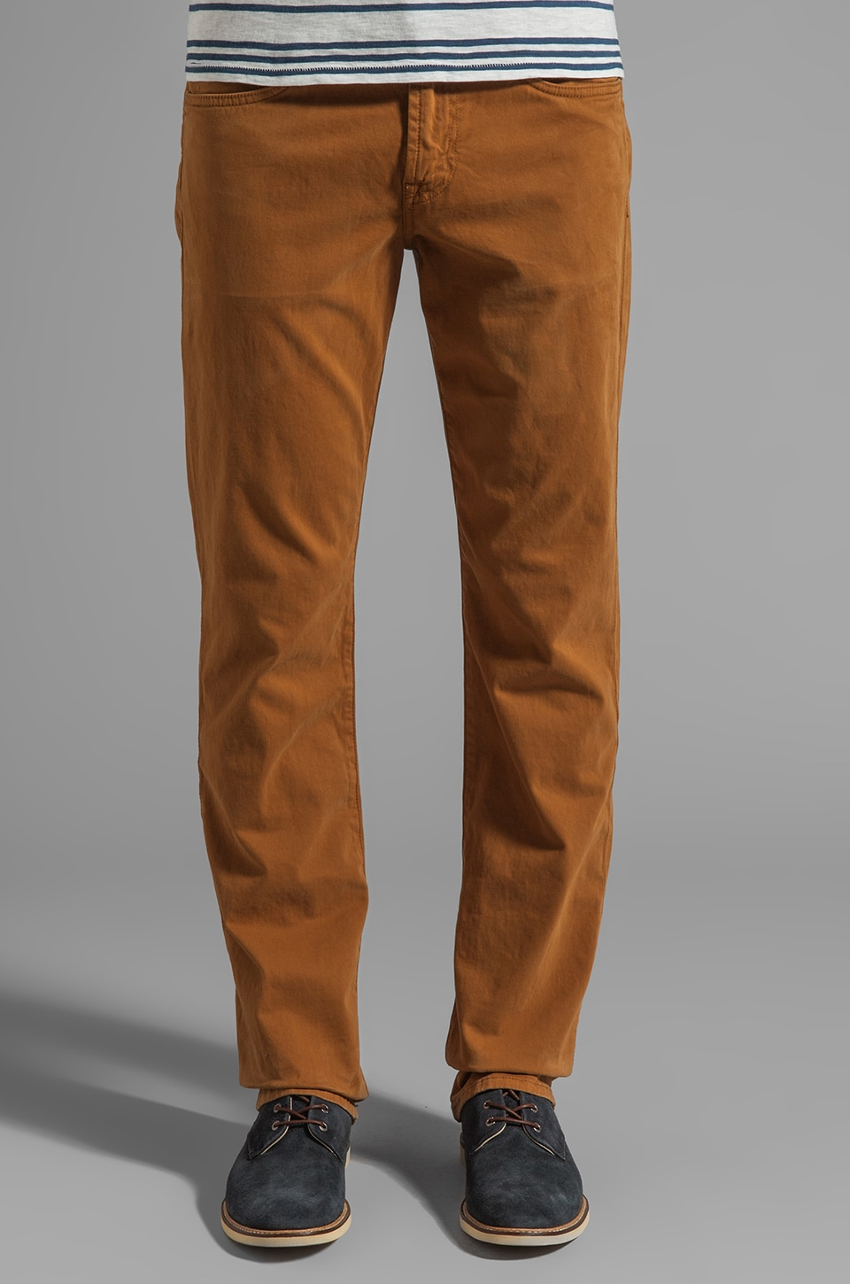 7 For All Mankind Carsen Chino in Golden Wheat