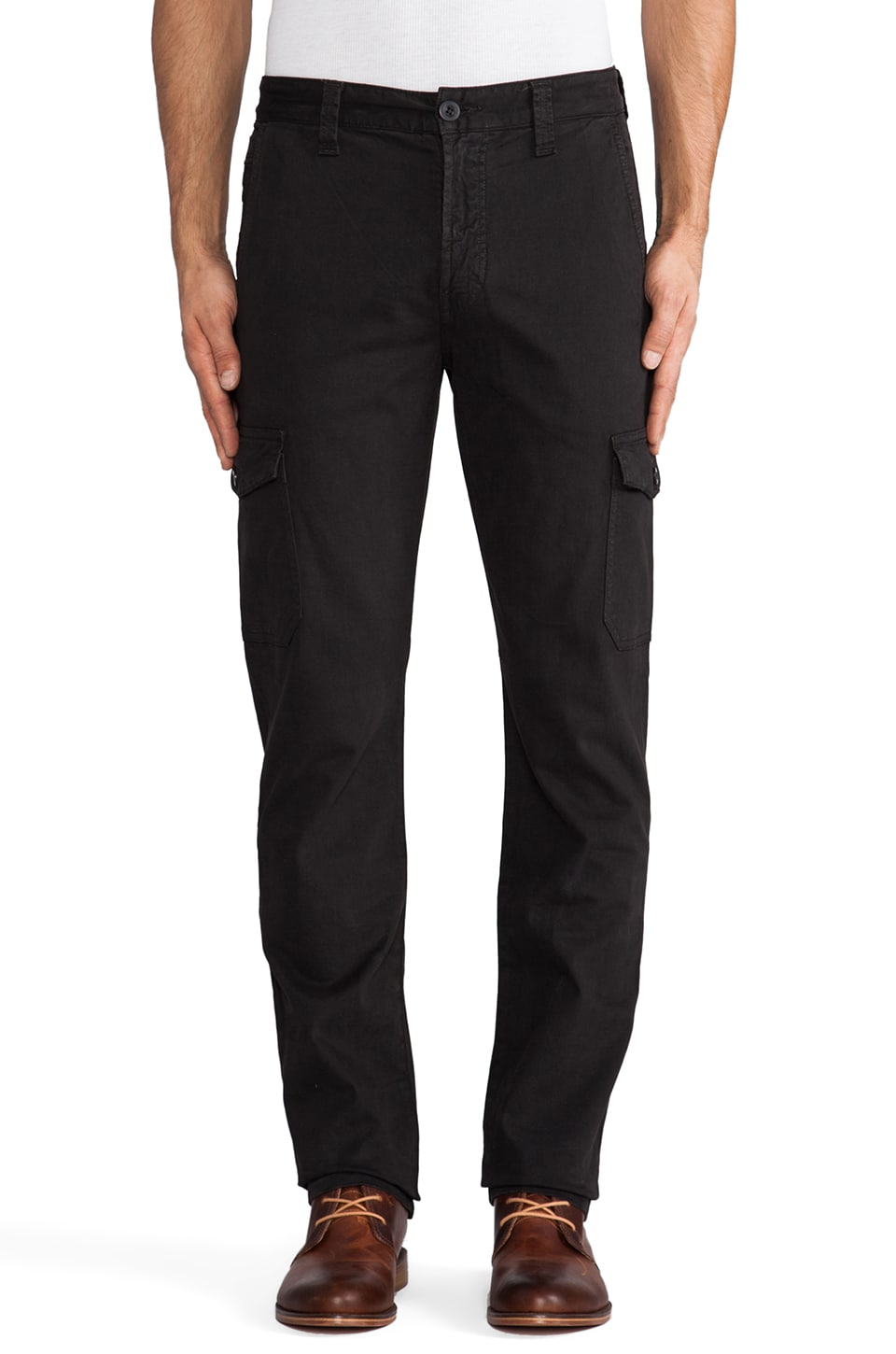 7 For All Mankind Carsen Cargo in Gunmetal
