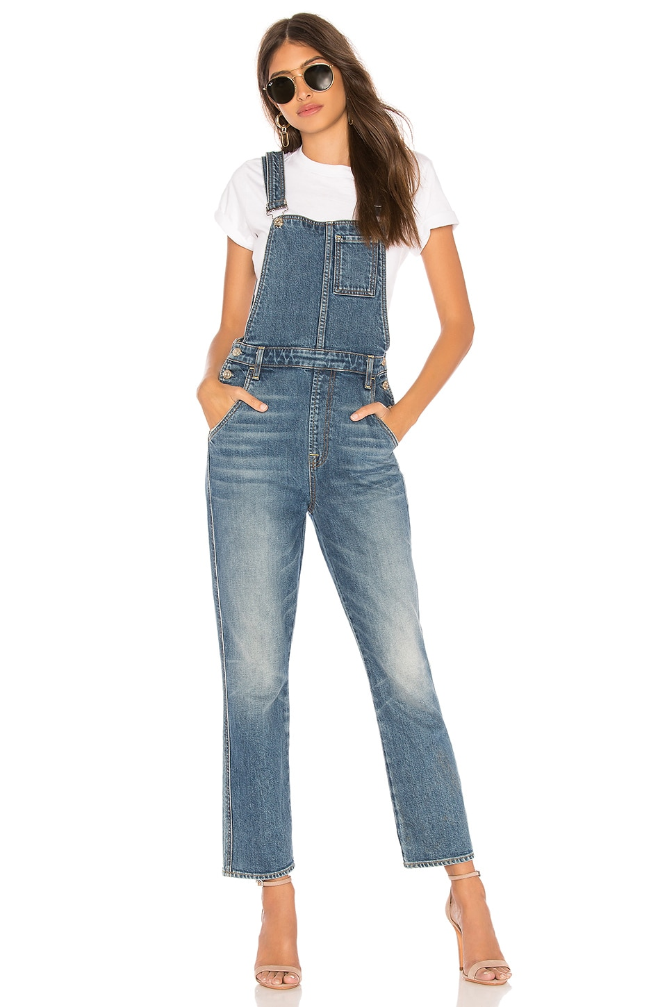 7 For All Mankind Edie Overall in Mojave Dusk
