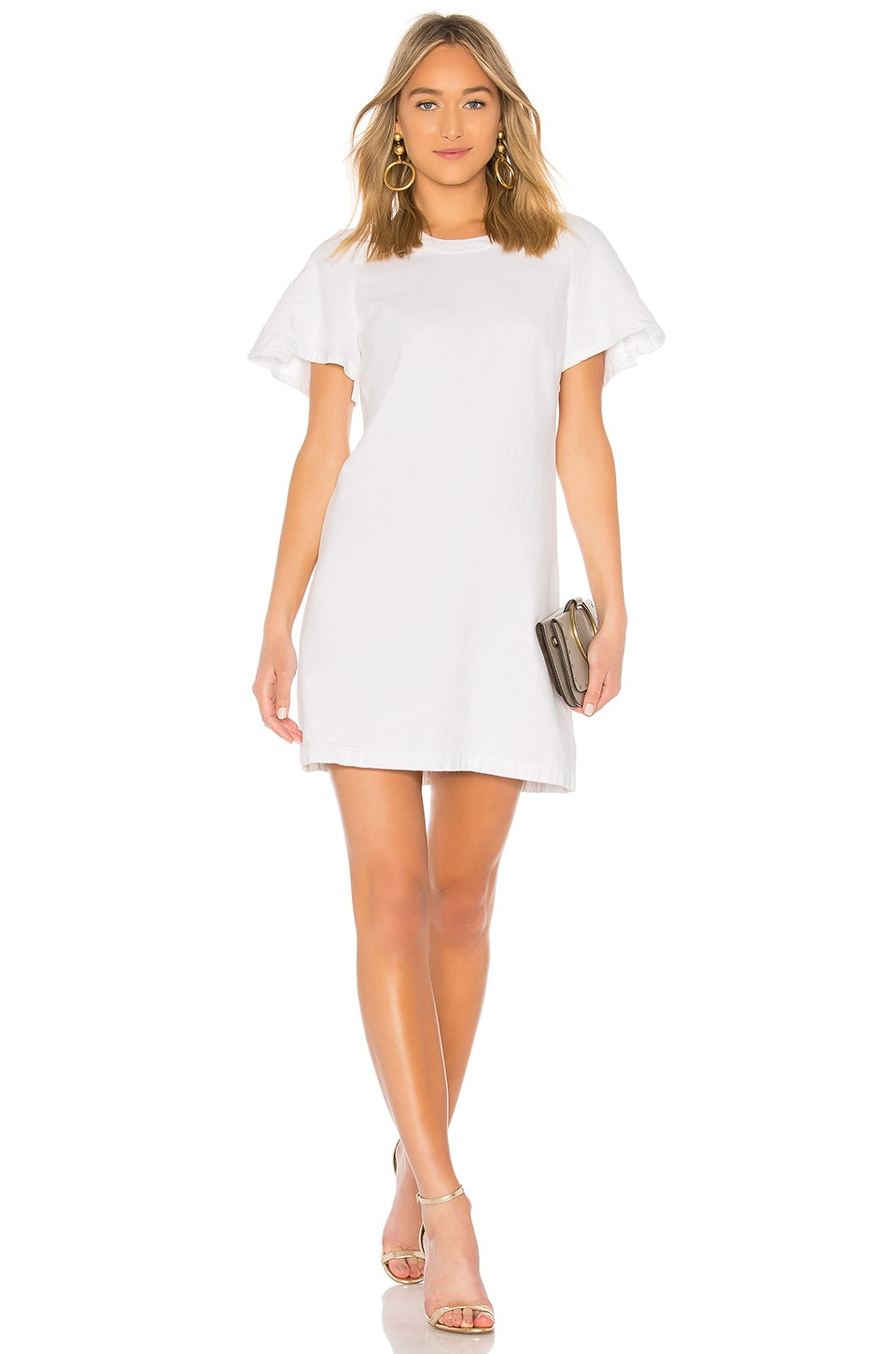 7 For All Mankind Popover Dress in White Fashion