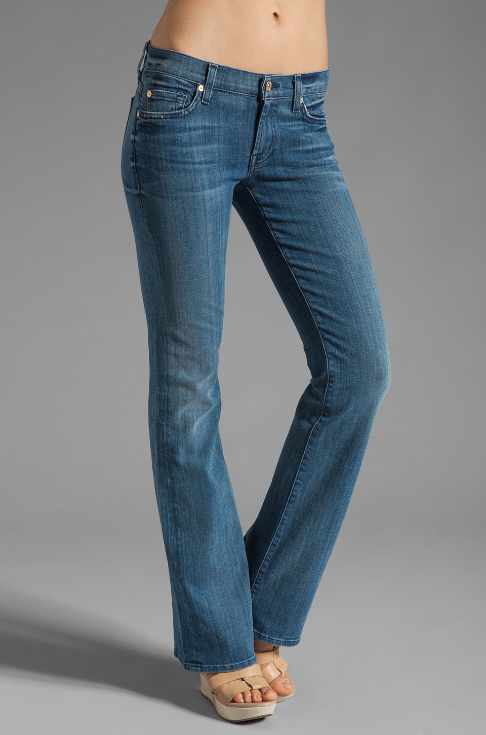 7 For All Mankind Bootcut in Natural Water Blue