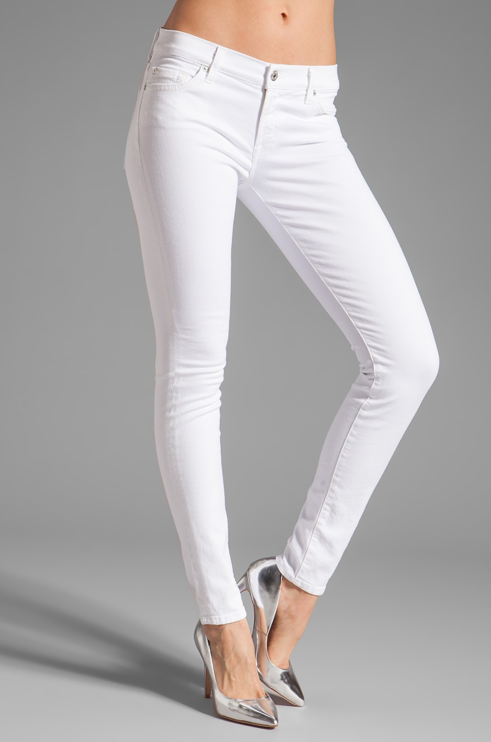 7 For All Mankind The Skinny Slim Illusion in Stark White