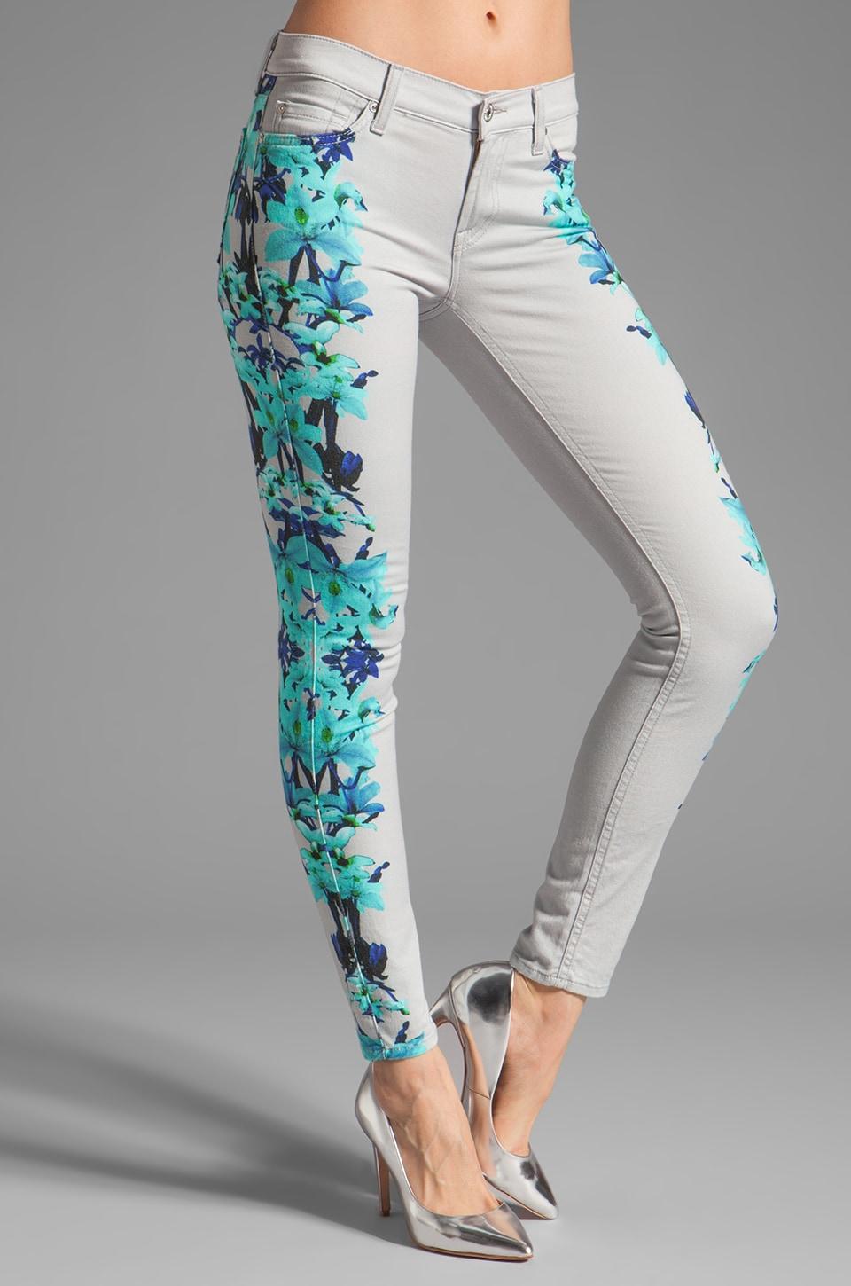 7 For All Mankind The Skinny in Floral Print