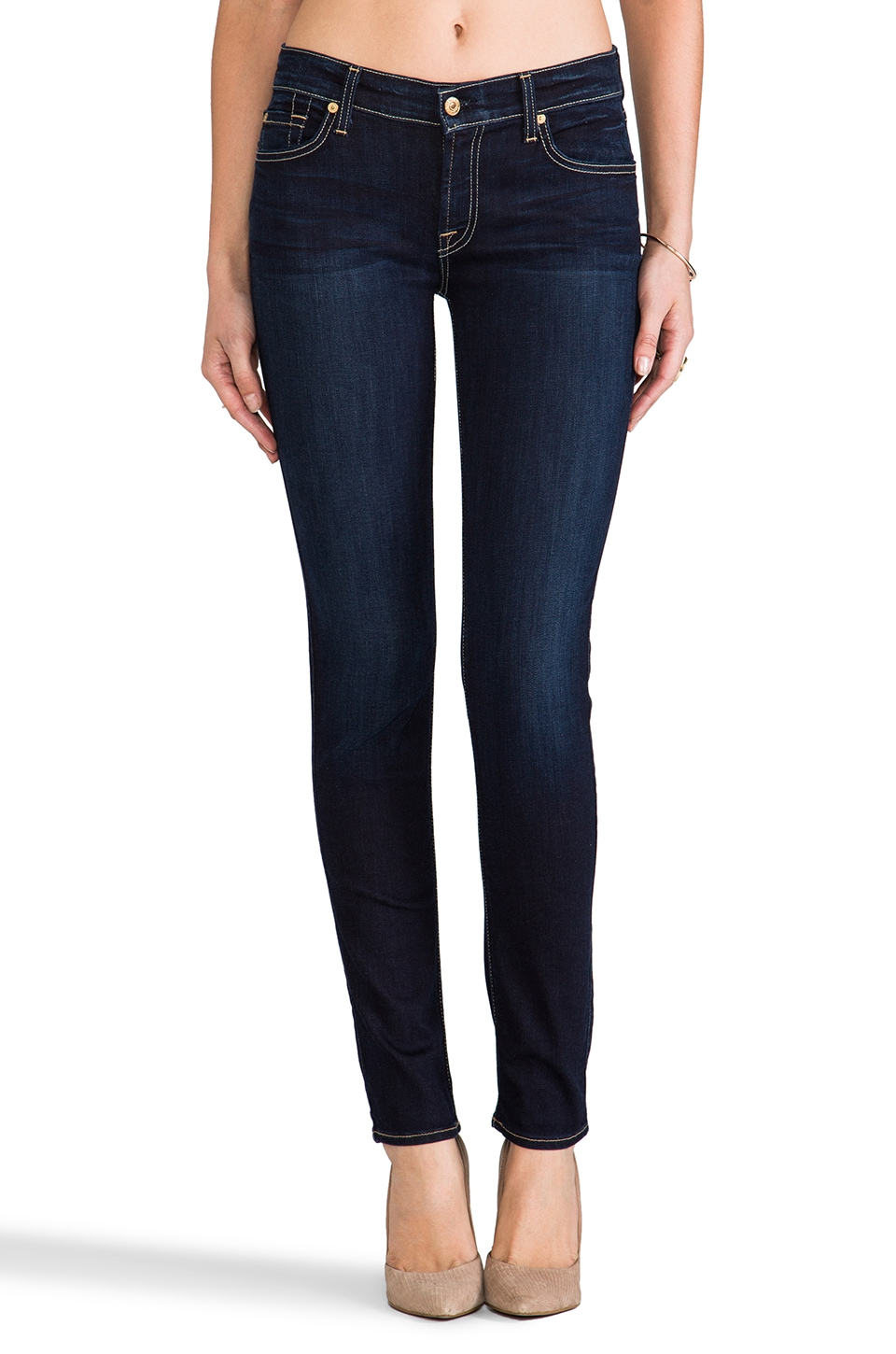 7 For All Mankind The Slim Cigarette in Black Night
