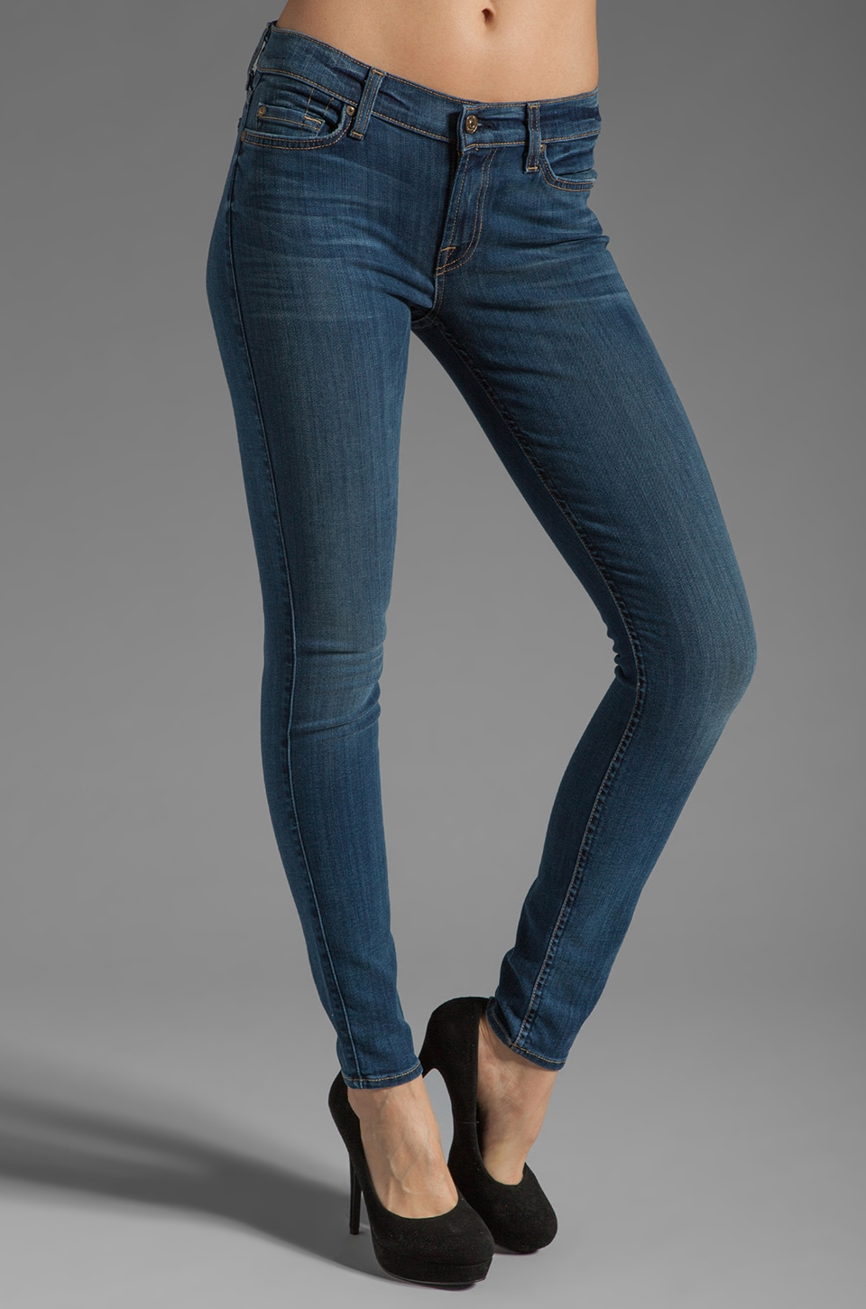 7 For All Mankind The Skinny with Squiggle in Slim Illusion Medium