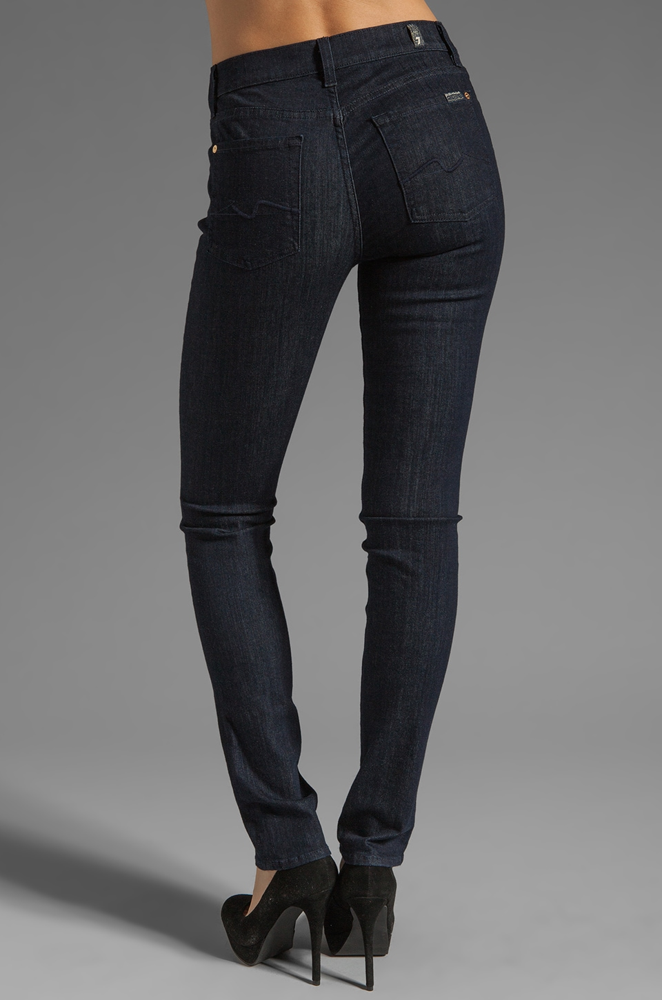 7 For All Mankind Mid Rise Roxanne in Slim Illusion Rinse