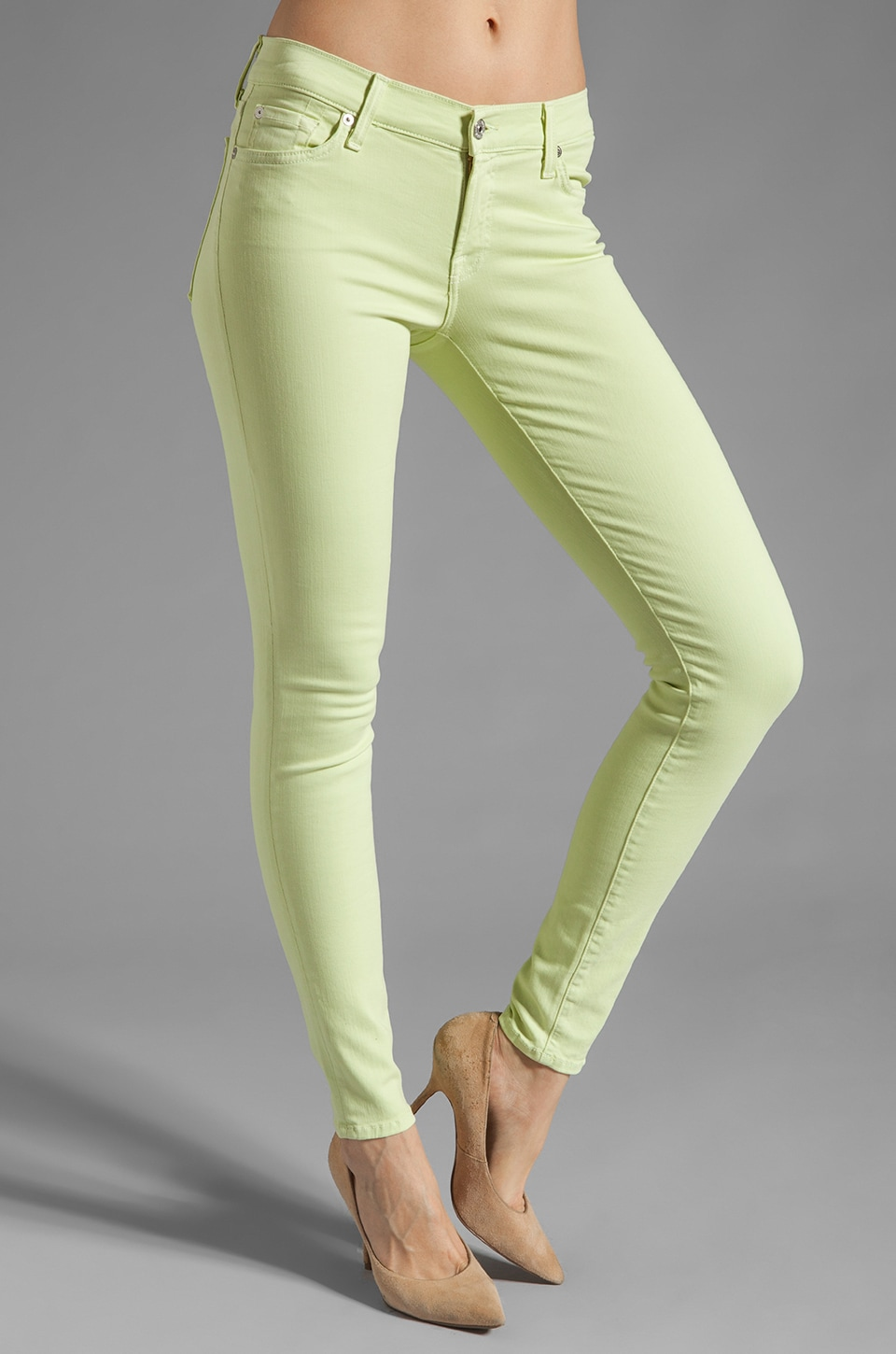 7 For All Mankind The Skinny Slim Illusion in Celery