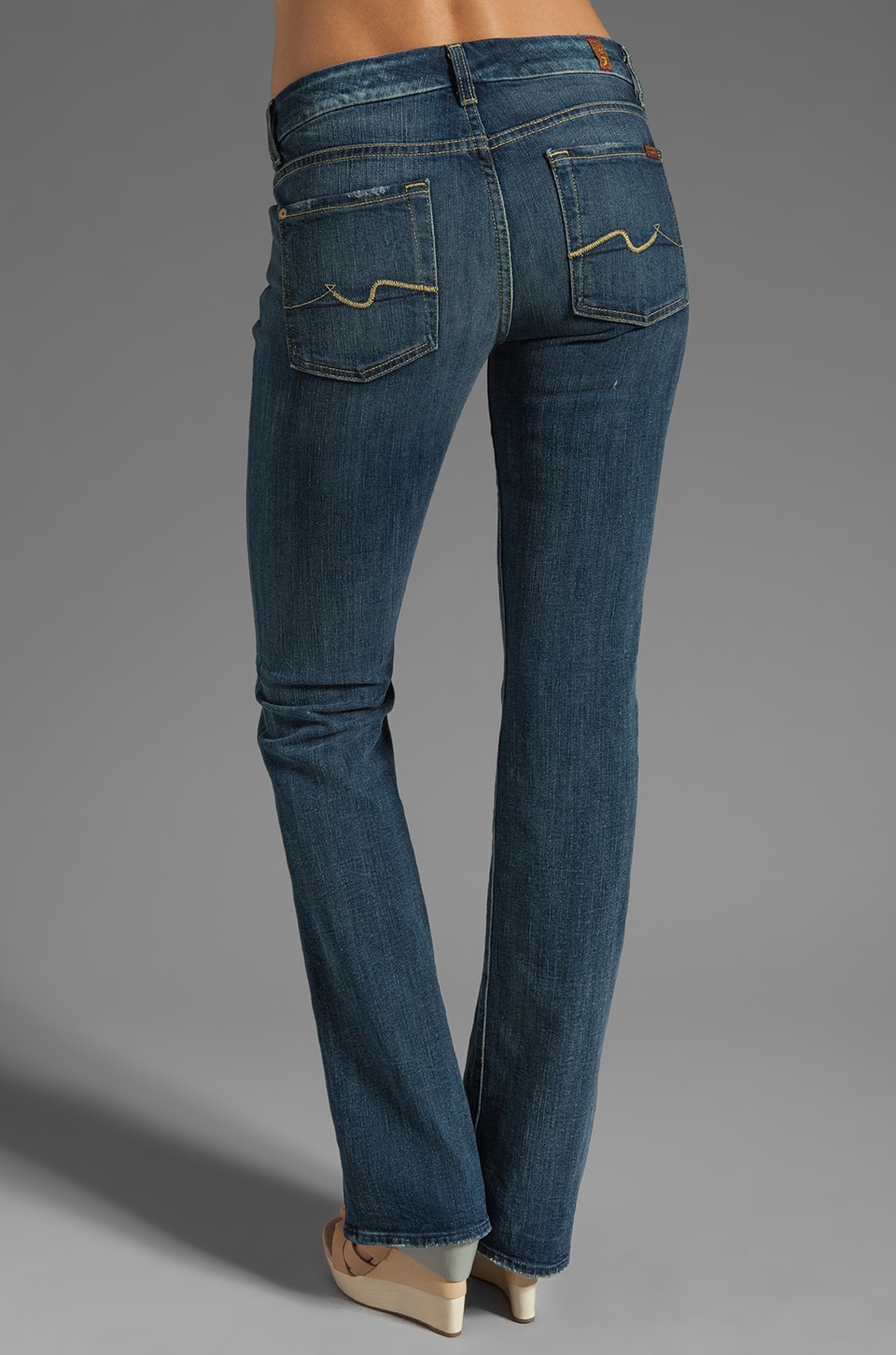 7 For All Mankind Kimmie Bootcut in Grinded Blue