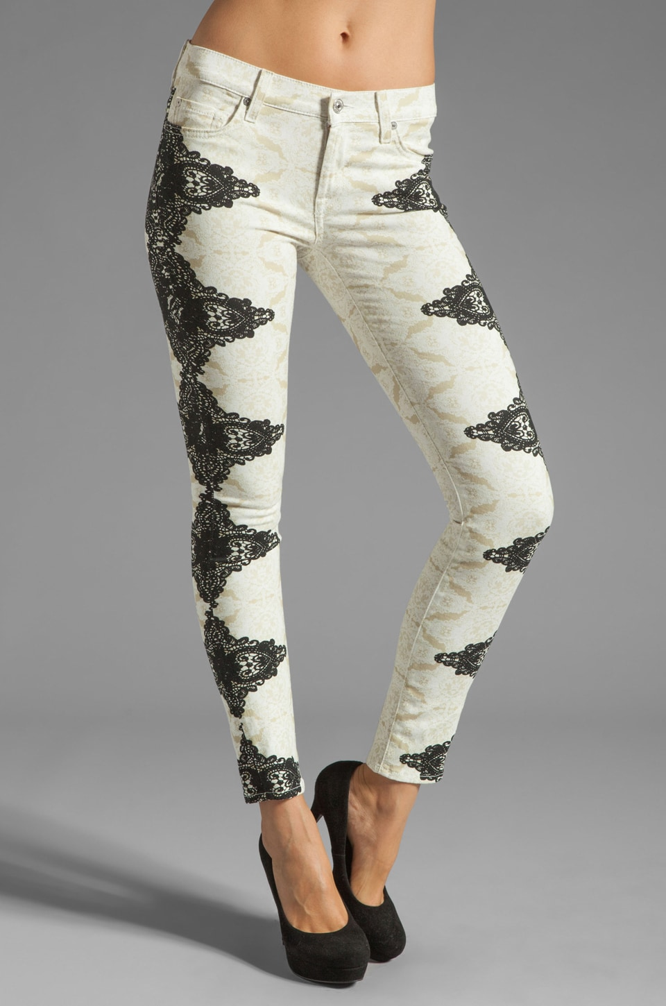 7 For All Mankind The Skinny in Layered Lace