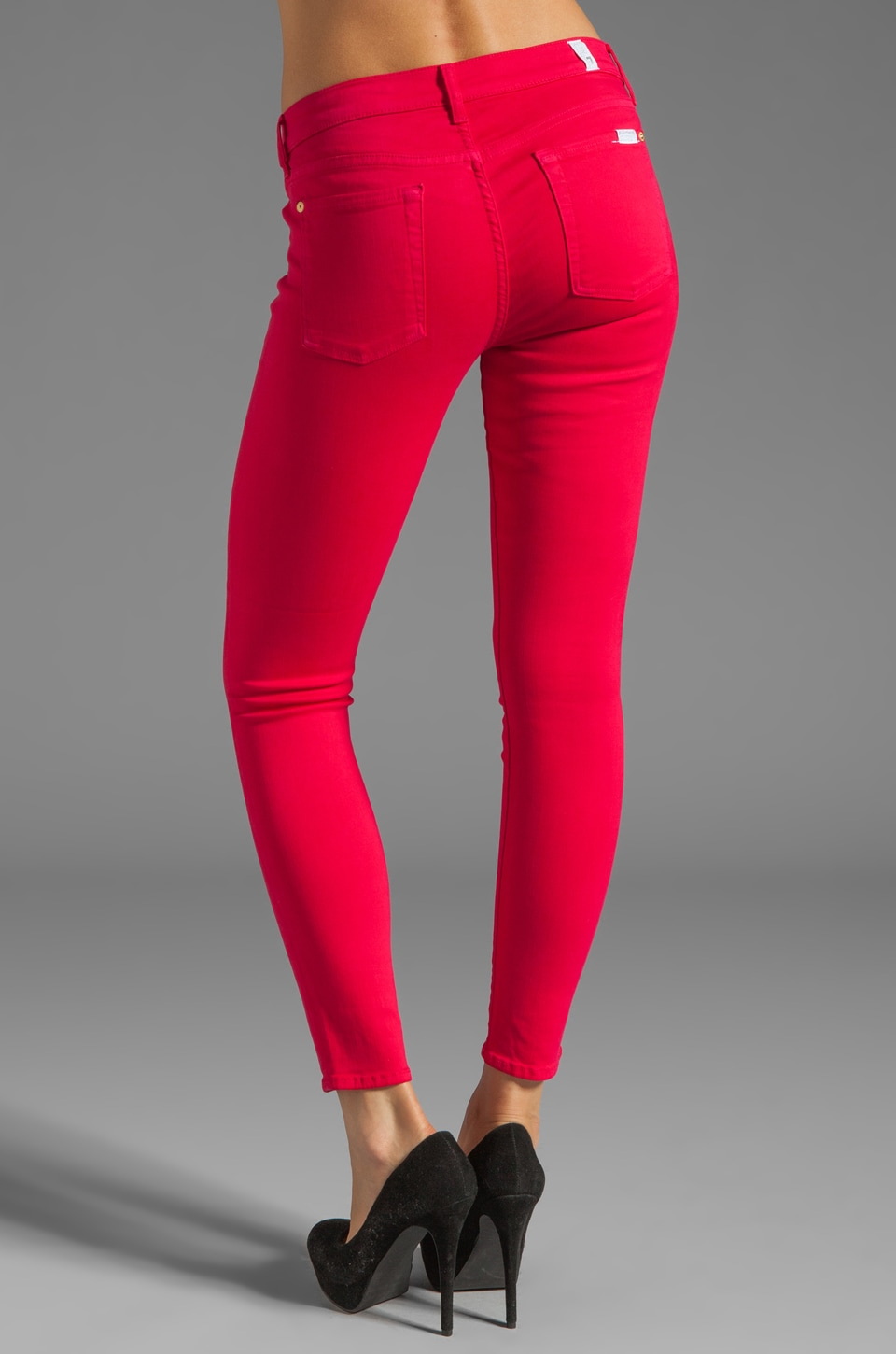 7 For All Mankind The Cropped Skinny in Hot Fuchsia