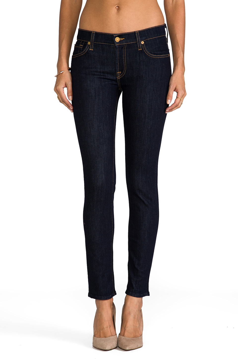 7 For All Mankind Slim Cigarette in Rinse
