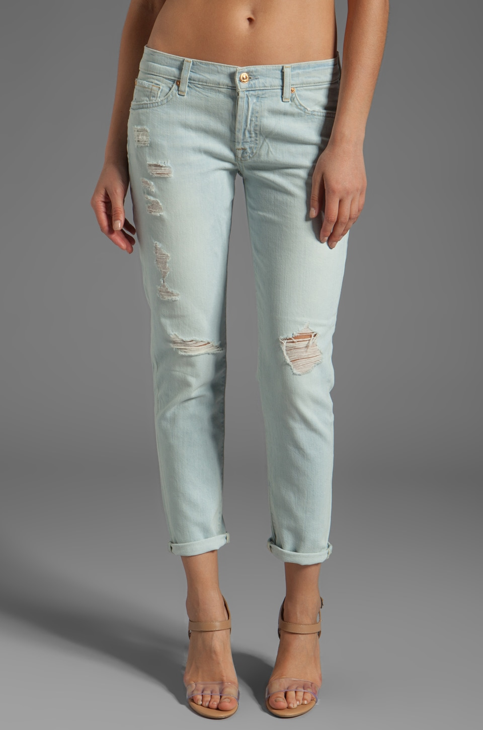 7 For All Mankind Josefina in Distressed Light