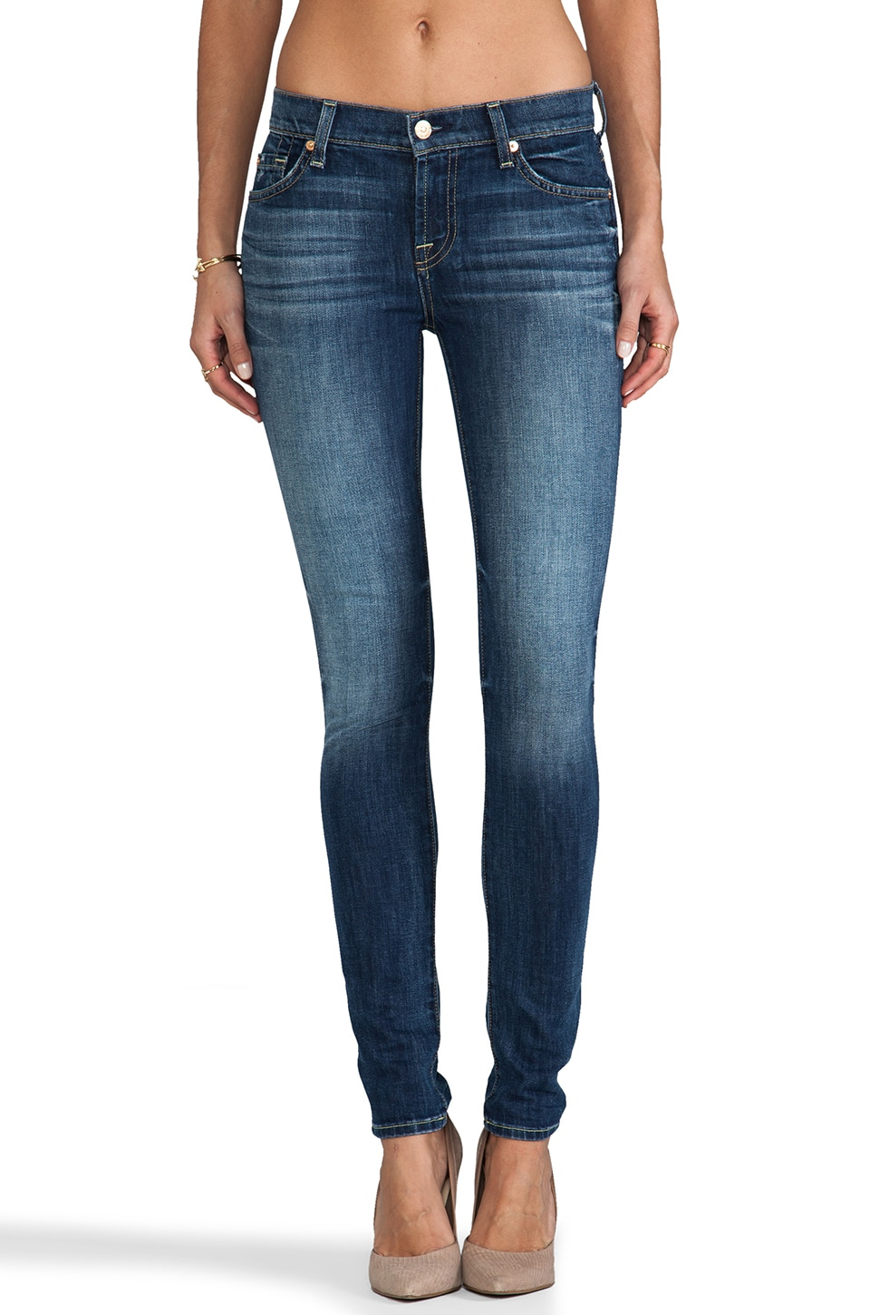 7 For All Mankind The Skinny in Authentic Bright Blue