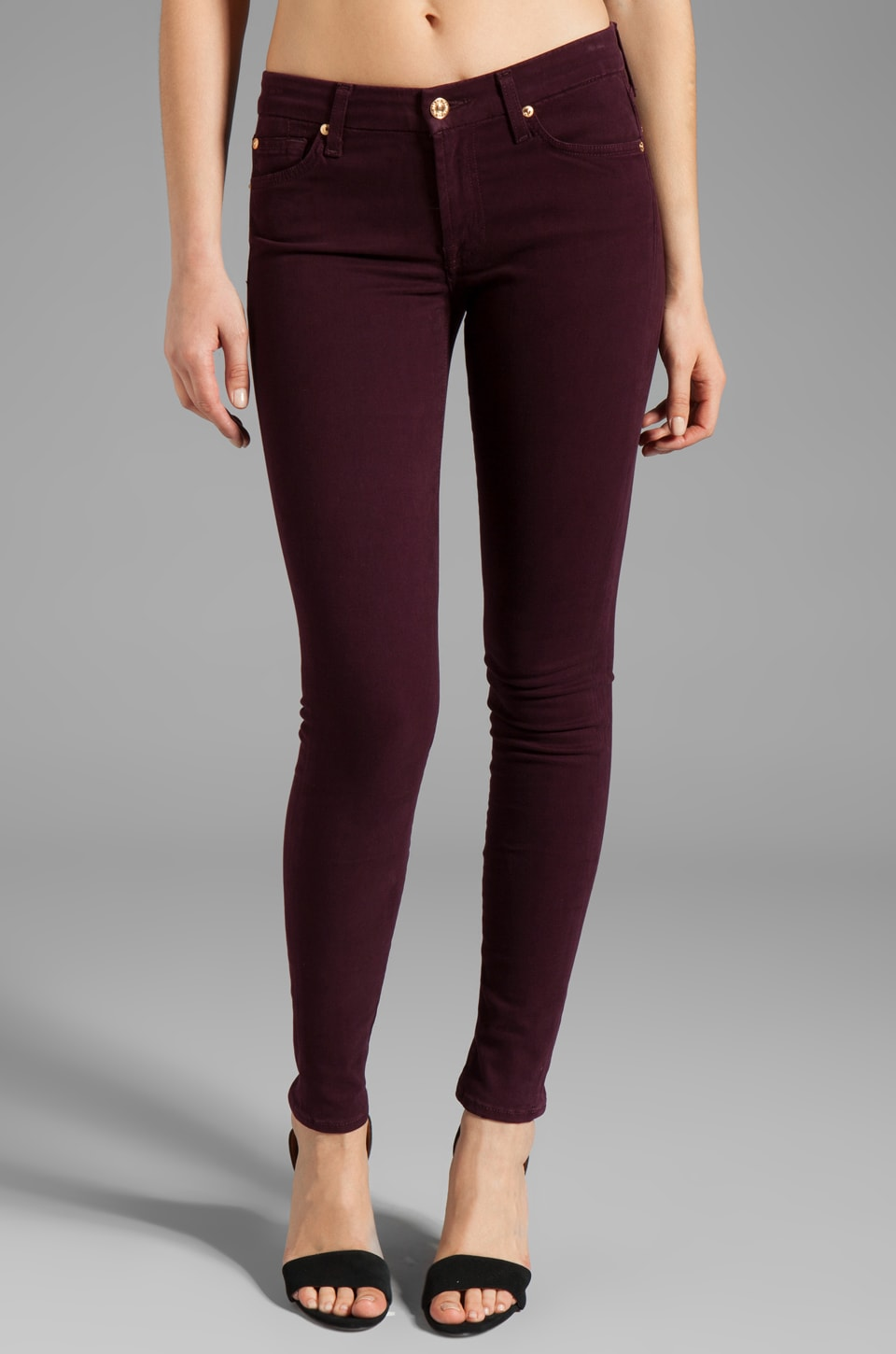 7 For All Mankind The Skinny in Boysenberry