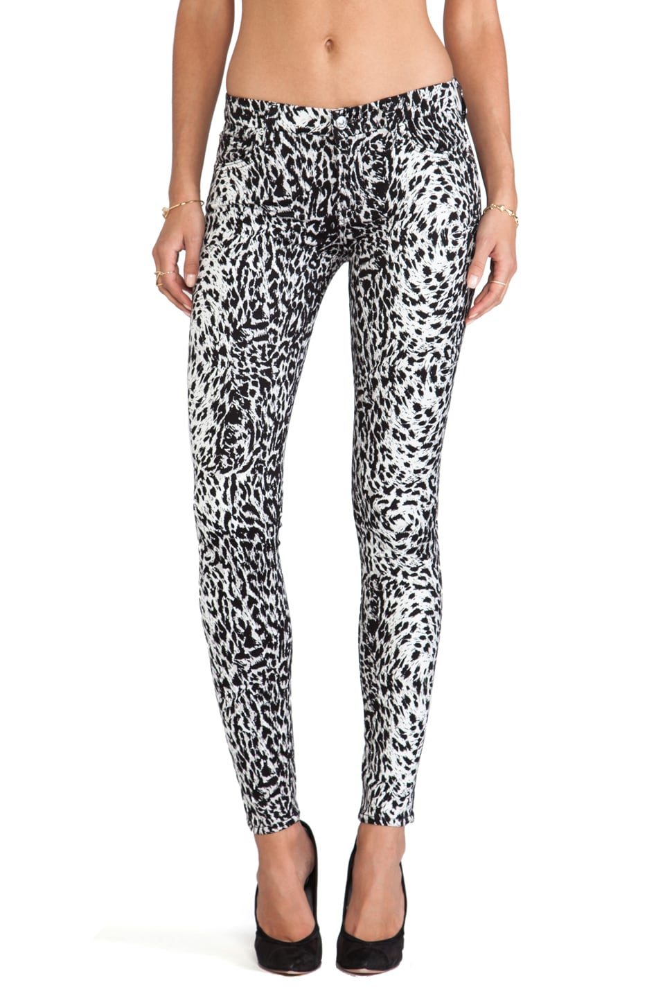 7 For All Mankind The Skinny Print in Snow Leopard