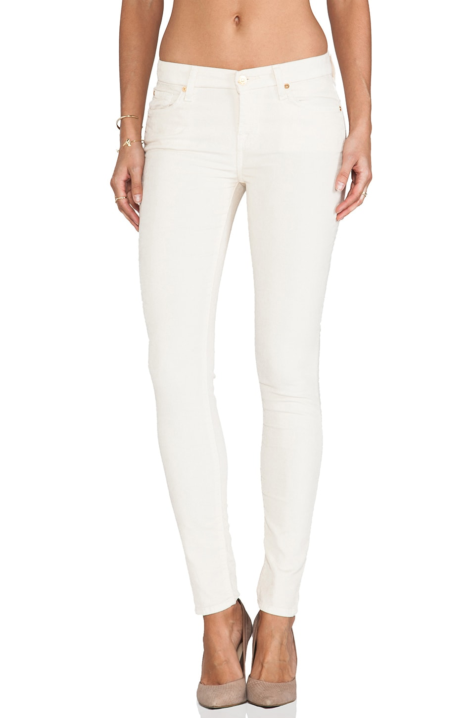 7 For All Mankind The Skinny in Alabaster White