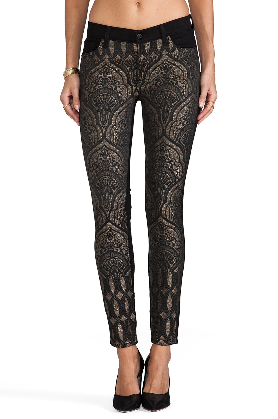7 For All Mankind The Pieced Skinny in Art Nouveau Jacquard