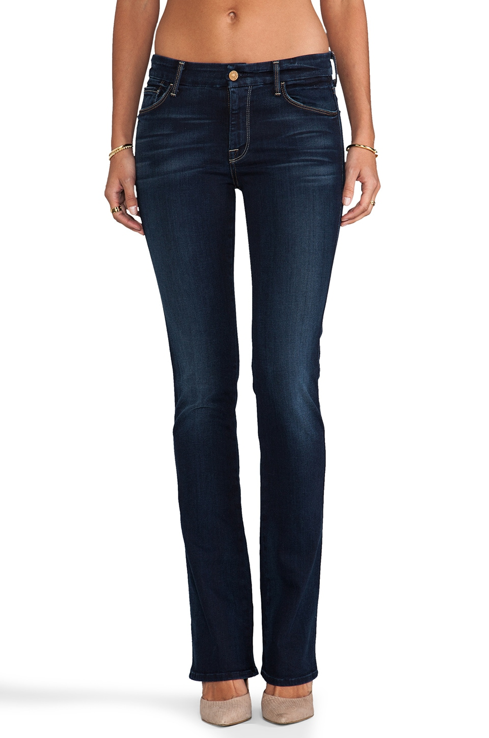 7 For All Mankind Slim Illusion The Skinny Boot Cut in Merci Blue