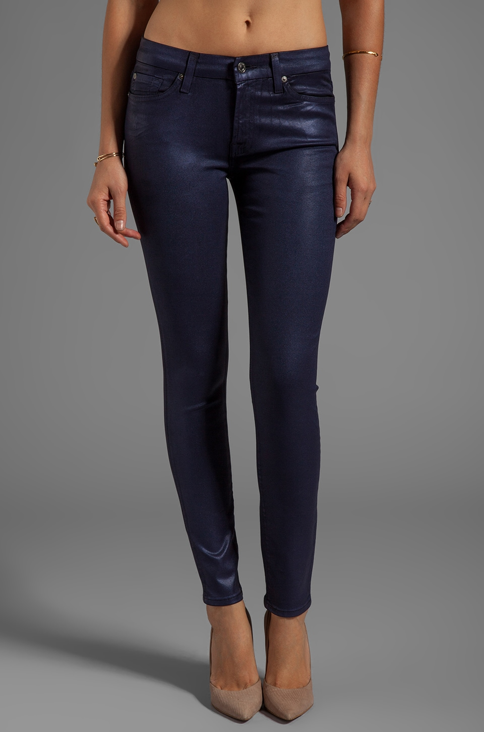7 For All Mankind The Skinny in Majestic Purple