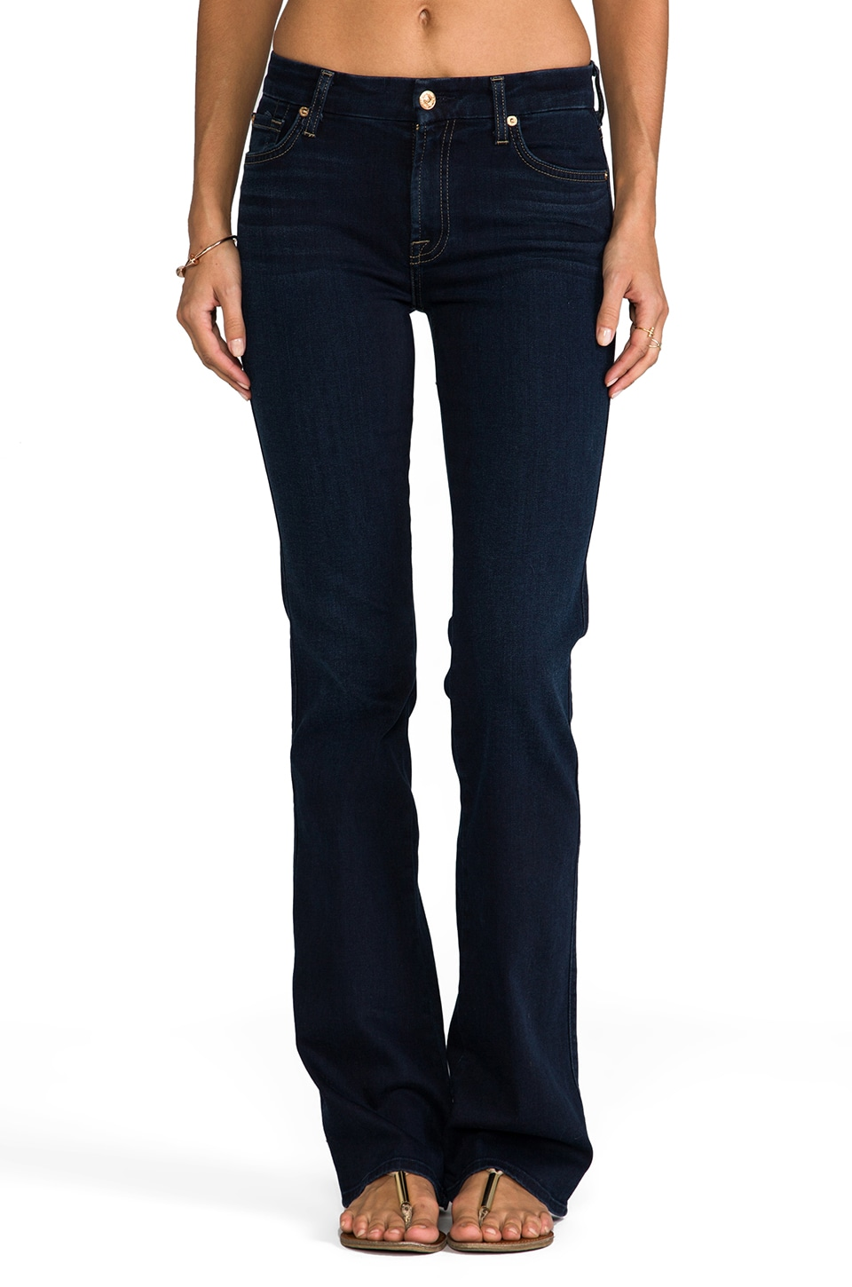 7 For All Mankind Mid Rise Kimmie Bootcut in Slim Illusion Red Cast