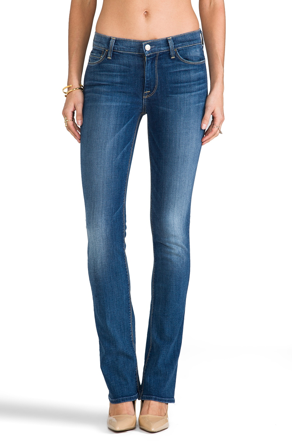 7 For All Mankind The Skinny Bootcut in Bright Red Cast Blue