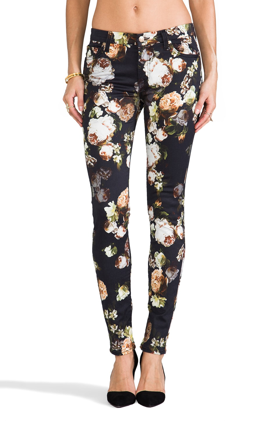 7 For All Mankind The Skinny in Nighttime Floral