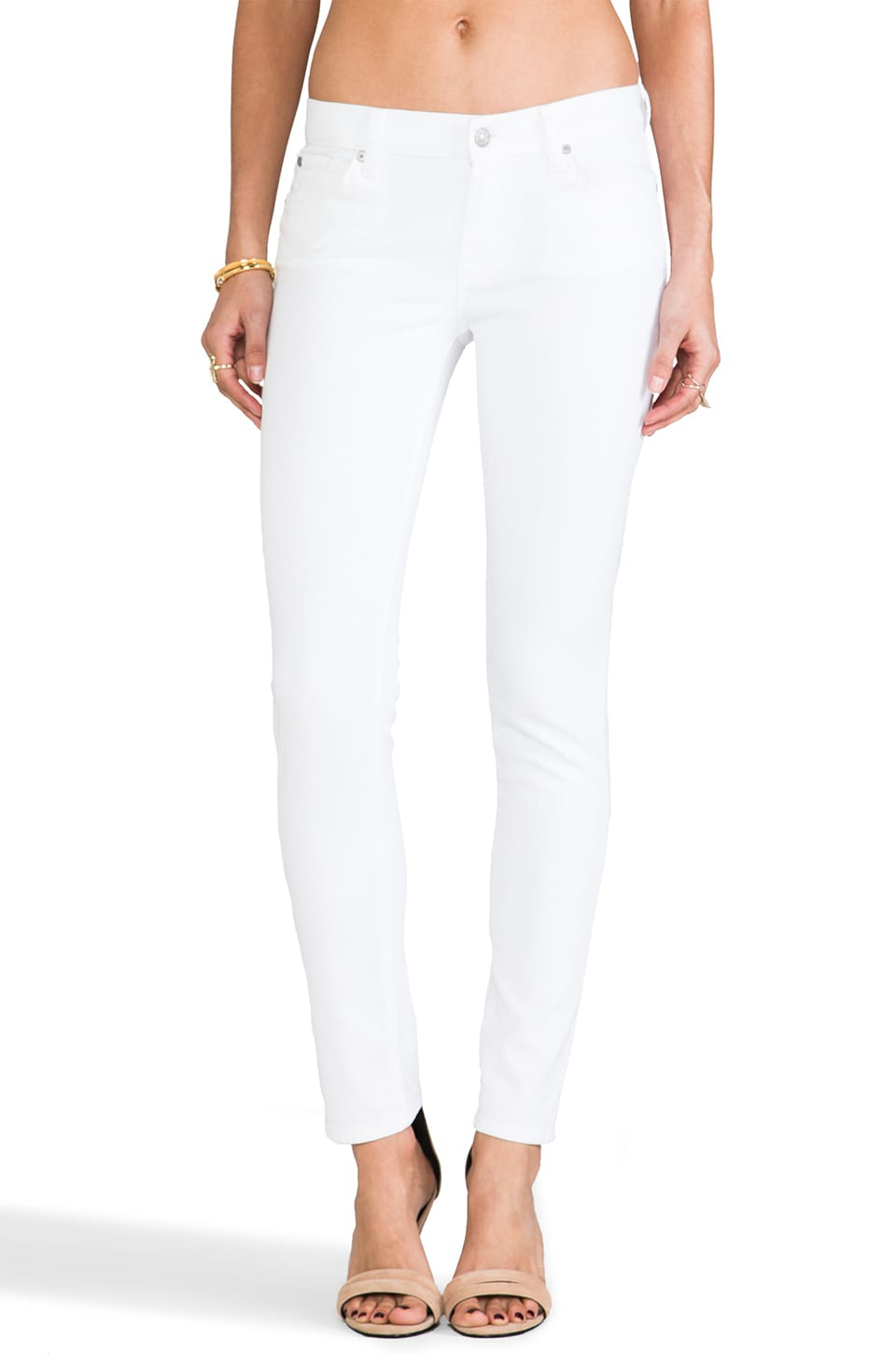 7 For All Mankind The Slim Cigarette in Clean White