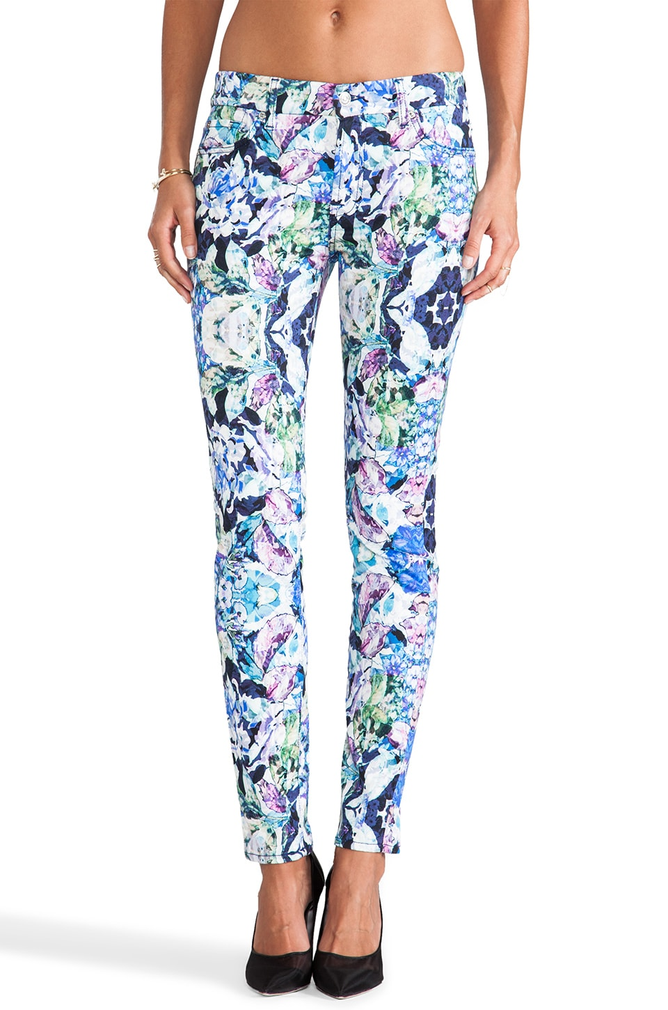 7 For All Mankind Skinny in Kaleidoscope Floral
