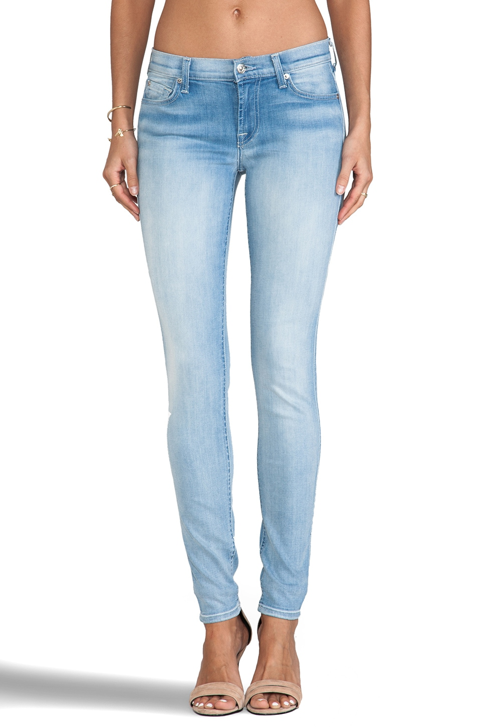 7 For All Mankind Skinny in Sky Breeze Blue