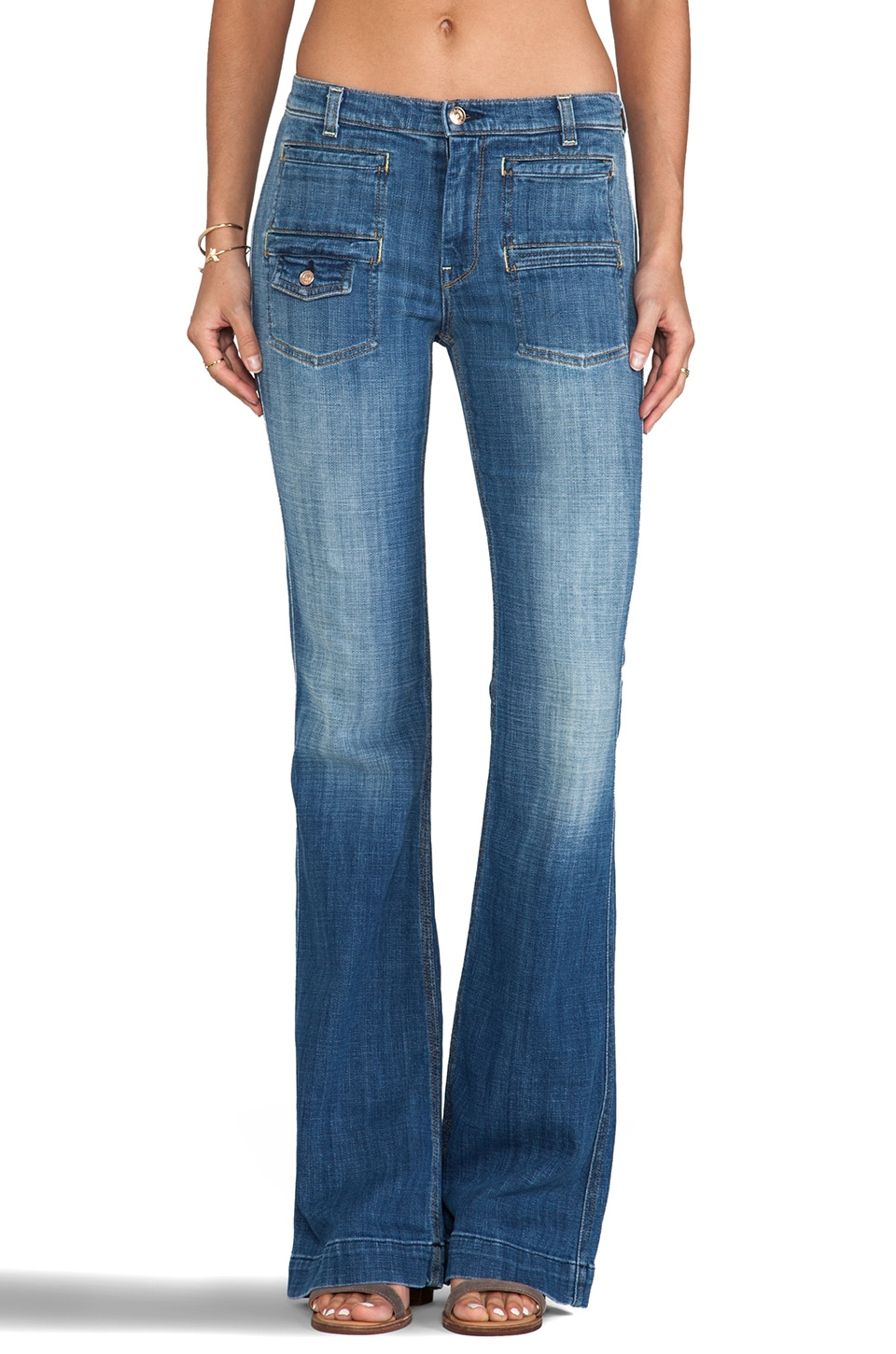 7 For All Mankind Georgia in Bright Light Broken Twill