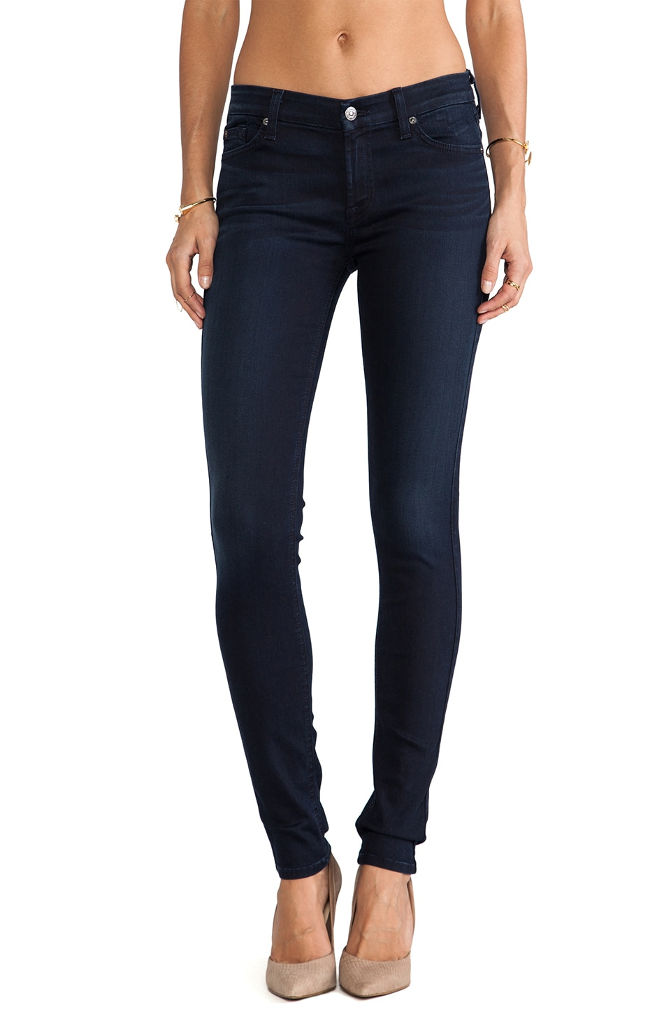 7 For All Mankind Skinny in Dark Steel Blue