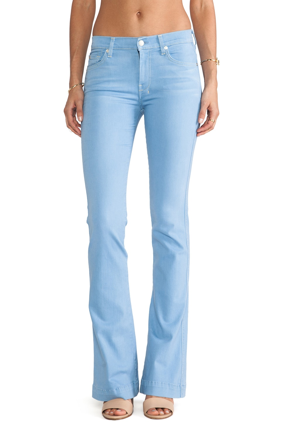 7 For All Mankind Slim Trouser in Light Weight Blue Denim