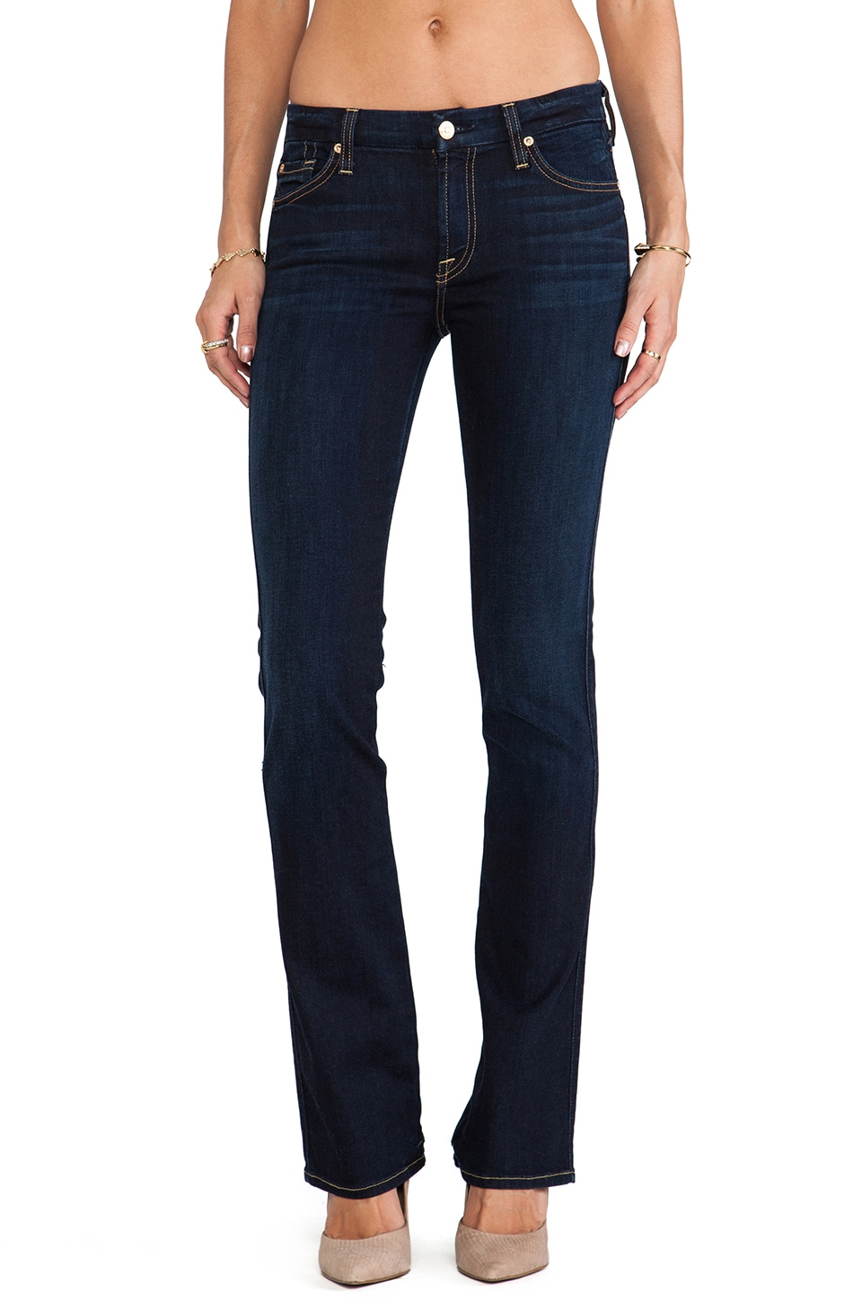 7 For All Mankind The Skinny Bootcut in Slim Illusion Classic Dark Blue