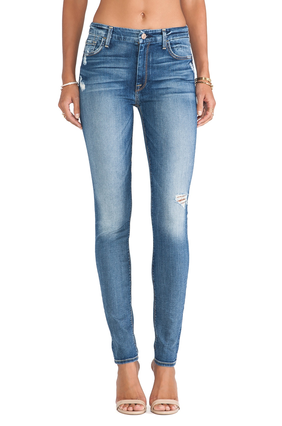 7 For All Mankind The HW Skinny with Contour & Destroy in Absolute Heritage 2
