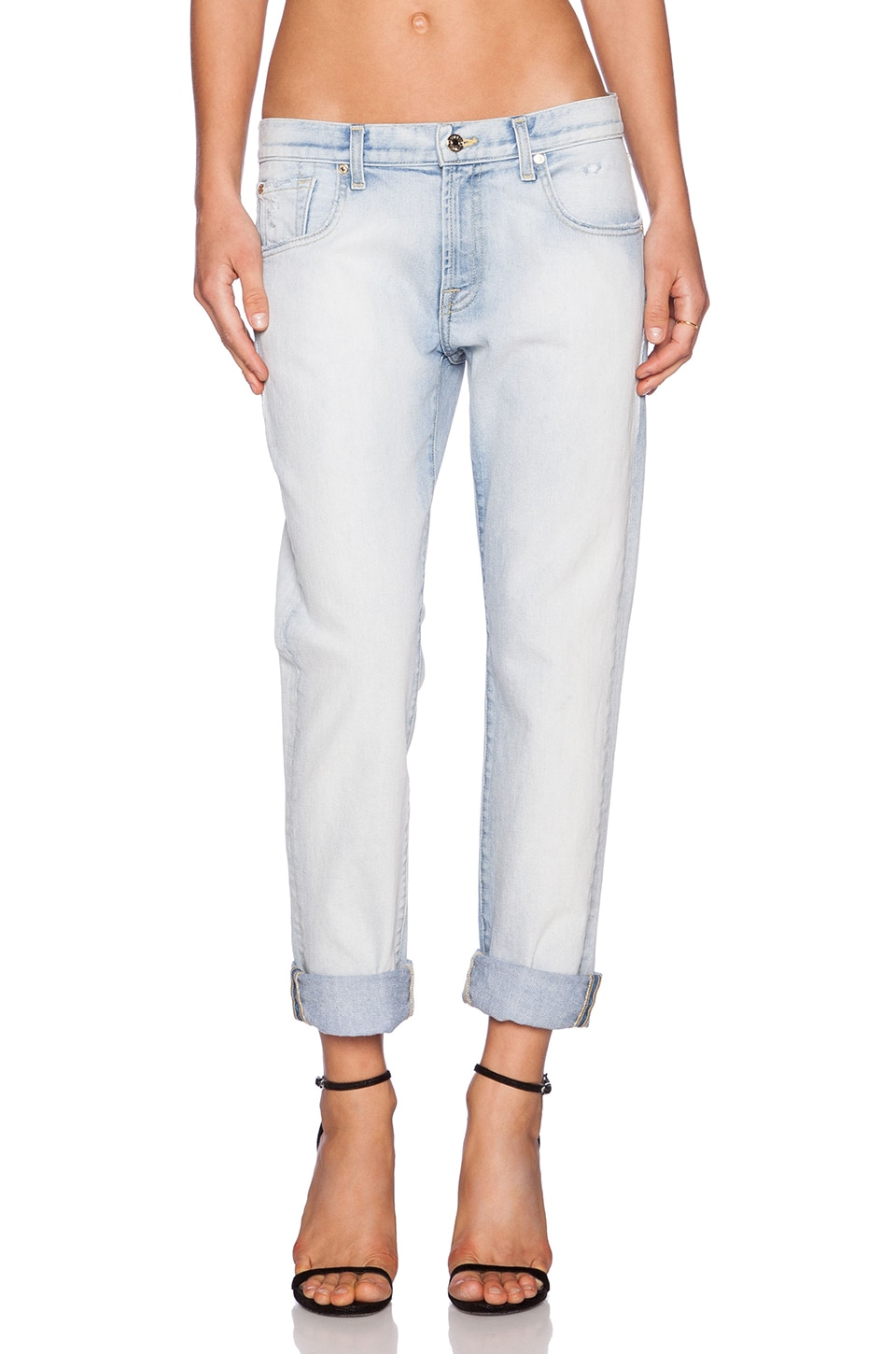 7 For All Mankind Relaxed Skinny in Bleached Out