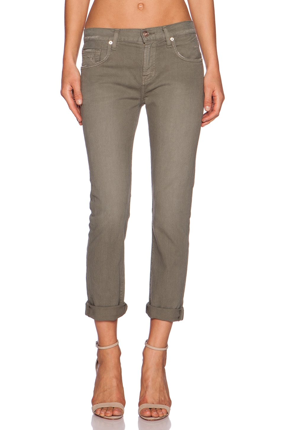 7 For All Mankind Relaxed Skinny in Fatigue