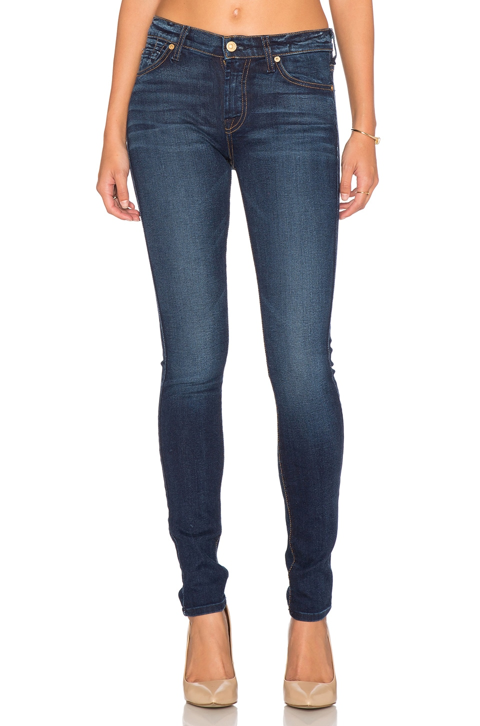 7 For All Mankind The Spice Squiggle Skinny in Slim Illusion Rich Vibrant Blue