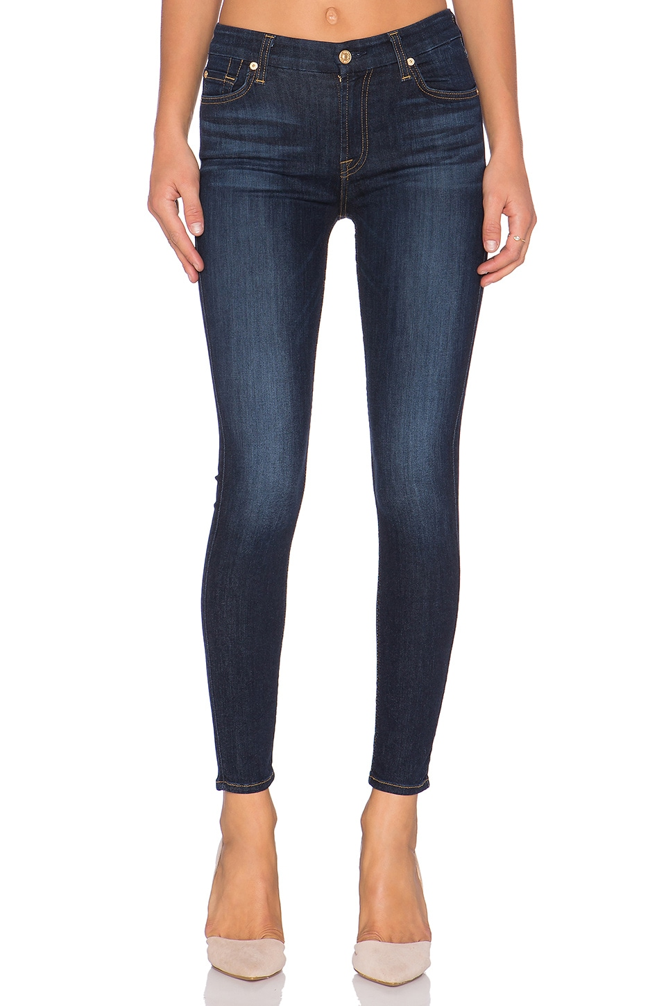 7 For All Mankind Ankle Skinny in Slim Illusion Tried & True Blue