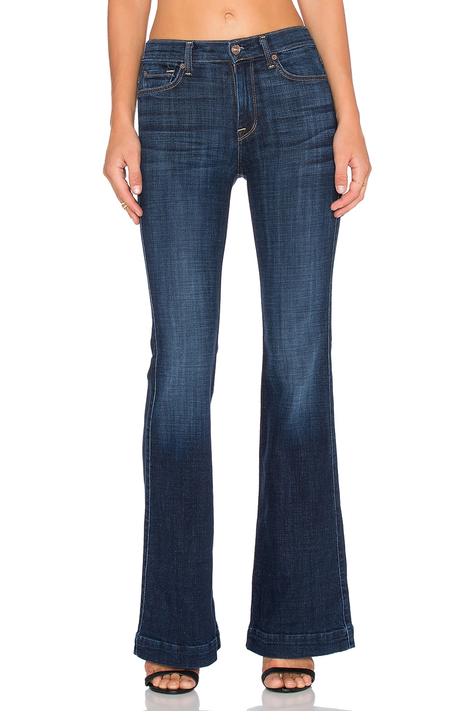 7 For All Mankind Ginger Flare in Royal Broken Twill