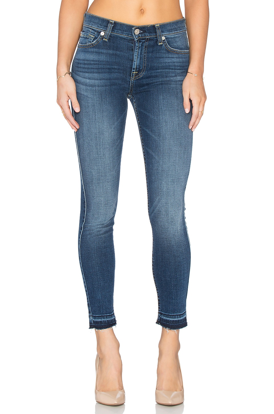 7 For All Mankind Skinny Released Hem in La Palma